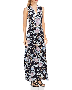 Vince Camuto Dresses POETIC BLOOMS SLEEVELESS PRINTED MAXI DRESS