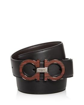 Salvatore Ferragamo - Men's Double Gancini Reversible Leather Belt