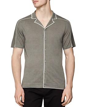 REISS - Horsey Cuban Regular Fit Button-Down Shirt