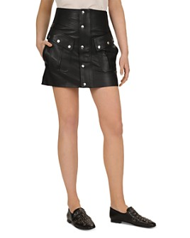The Kooples - Leather Mini Skirt