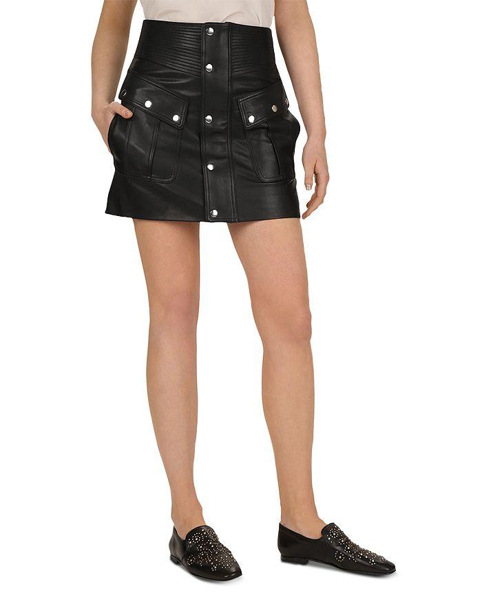 The Kooples - Leather Mini Skirt