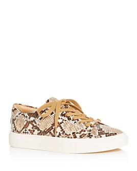 J/Slides - Women's Lacee Snake-Embossed Low-Top Sneakers