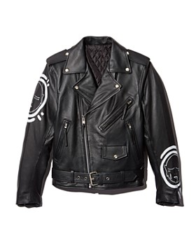 PATRICK CHURCH - All Over You Hand-Painted Leather Moto Jacket - 100% Exclusive