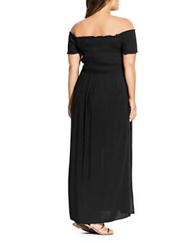 97325e2d791 ... City Chic Plus - Summer Passion Off-the-Shoulder Maxi Dress
