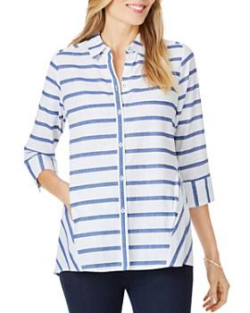 Foxcroft - Carlene Nautical-Stripe Shirt