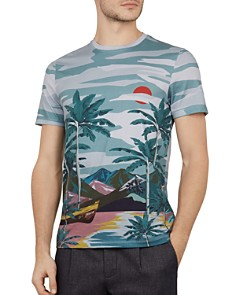 Ted Baker - Boatri Placement Crewneck Tee