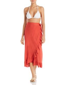 Echo - Ruffle Wrap Skirt Swim Cover-Up