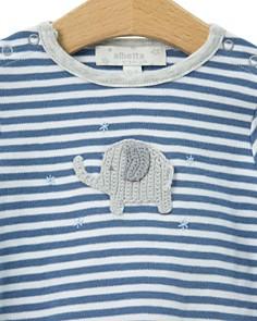 Albetta - Boys' Crochet-Elephant Coverall - Baby