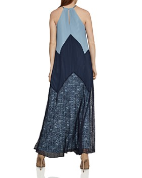 BCBGMAXAZRIA - Color-Block Pleated Maxi Dress