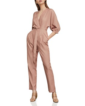 c514125397 BCBGMAXAZRIA - Crossover Belted Jumpsuit ...