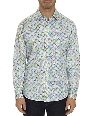 Robert Graham Kakamas Striped Leaf Classic Fit Shirt-Men