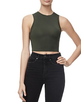 Good American - Cropped Muscle Tee