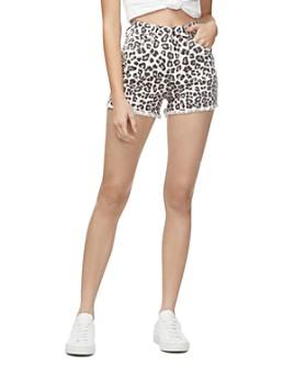 Good American - The Cutoff Denim Shorts in Snow Leopard001