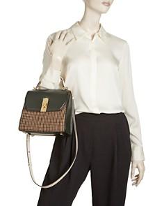 Salvatore Ferragamo - Medium Boxy Tweed & Leather Satchel