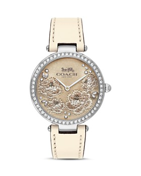 COACH - Park Crystal-Embellished Floral Watch, 34mm