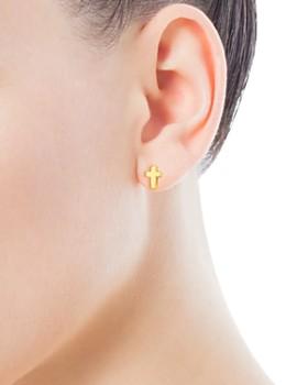 TOUS - 18K Yellow Gold Cross Stud Earrings