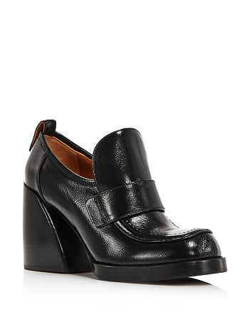 Chloé - Women's Adelie Leather Block-Heel Loafers