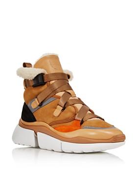 a85ba8b73ea9 Chloé - Women s Sonnie High-Top Sneakers ...