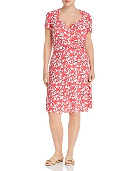 Leota Plus - Printed Sweetheart Fit-and-Flare Dress