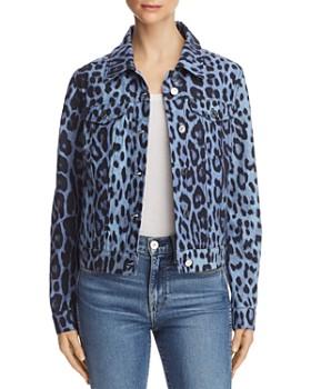 Bagatelle - Leopard-Print Denim Jacket