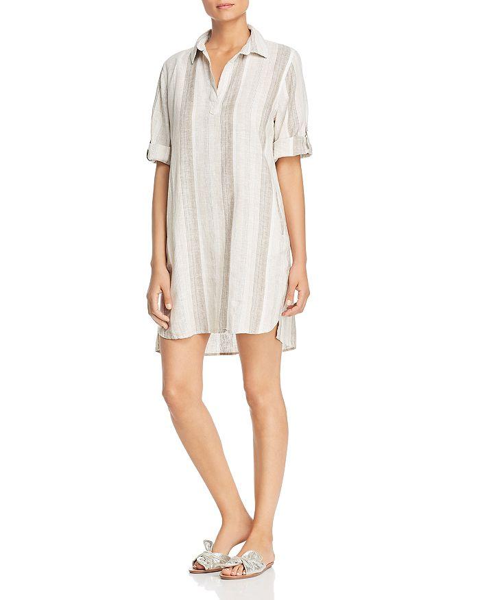 Elan - Ticking Striped Shirt Dress