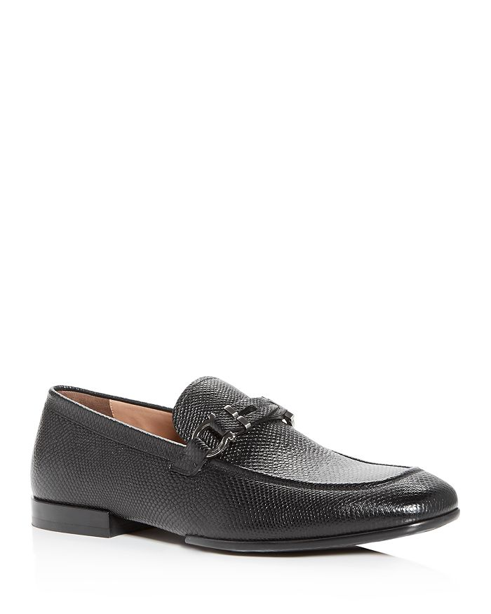 Salvatore Ferragamo - Men's Tucker Cervo Lizard-Embossed Leather Loafers