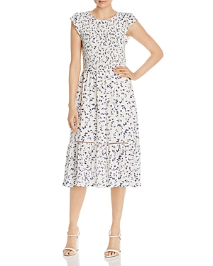 Vintage Dresses Australia- 20s, 30s, 40s, 50s, 60s, 70s Lost and Wander Rain Printed Midi Dress AUD 118.16 AT vintagedancer.com