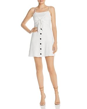 Lost and Wander Eva Tie-Front Linen Mini Dress