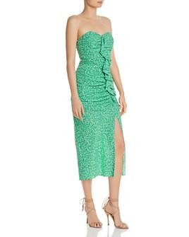 LIKELY - Jordana Strapless Floral-Print Midi Dress