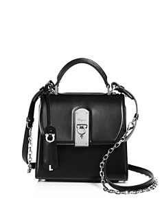 Salvatore Ferragamo - Boxy Small Leather Satchel