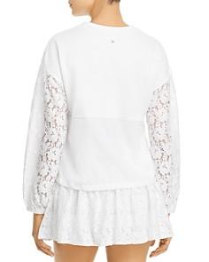 kate spade new york - Lace-Paneled Sweatshirt