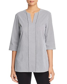 cfccb6be5d4 Misook - Pinstripe V-Neck Blouse ...