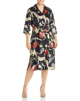 Marina Rinaldi - Definire Floral-Print Shirt Dress