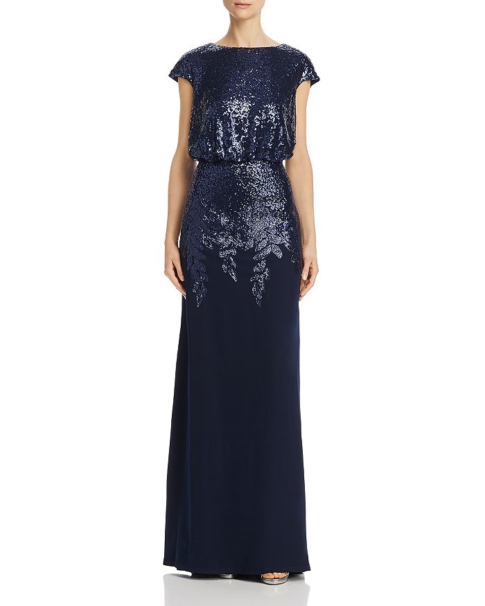 Tadashi Petites - Sequined Crepe Gown