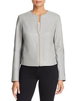 Escada Sport - Lumira Color-Block Leather Jacket