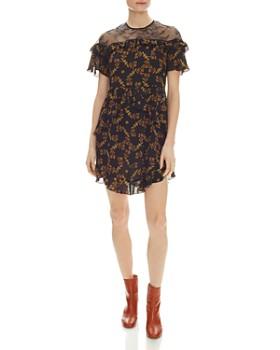 Sandro - Alderic Ruffled Floral-Print Mini Dress
