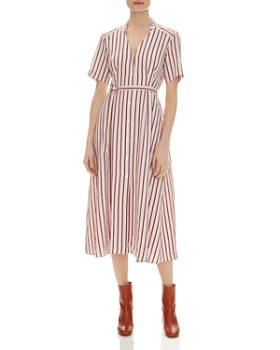 fdd08499be7100 Sandro - Clarance Striped Midi Dress ...