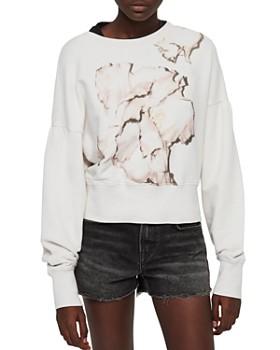 ALLSAINTS - Storn Linel Cropped Graphic Sweatshirt