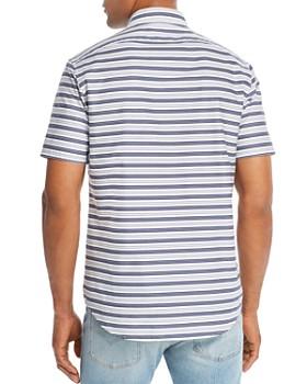 Michael Kors - Midnight Short-Sleeve Striped Slim Fit Shirt