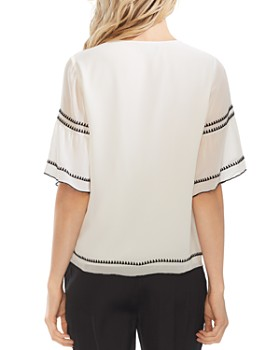 ef9cea3c9ab1 VINCE CAMUTO - Embroidered Chiffon Blouse VINCE CAMUTO - Embroidered  Chiffon Blouse