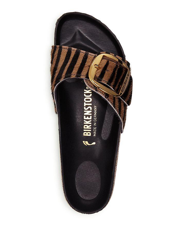 Birkenstock - Women's Madrid Big Buckle Zebra Calf Hair Slide Sandals - 100% Exclusive