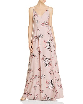 WAYF - Angelina Floral Wrap Gown