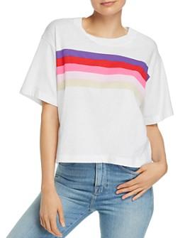 Sundry - Rainbow-Stripe Boxy Tee