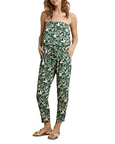 Velvet by Graham & Spencer - Strapless Botanical Jumpsuit