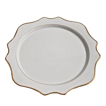 Anna Weatherley - Simply Anna Antique Charger with Houndstooth Edge