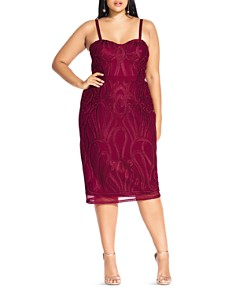 City Chic Plus - Antonia Embroidered Dress
