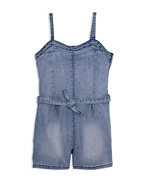 ag Adriano Goldschmied Kids Girls' Hattie Denim Romper - Big Kid