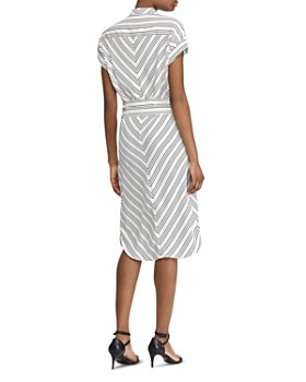 Ralph Lauren - Multi-Directional-Stripe Shirt Dress