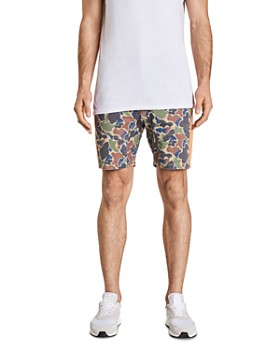 NXP - Sergeant Camouflage-Print Skinny Fit Shorts