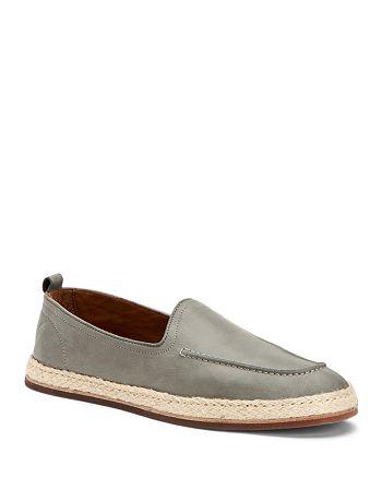 Aquatalia - Men's John Tumbled Leather Espadrille Slip-On Loafers